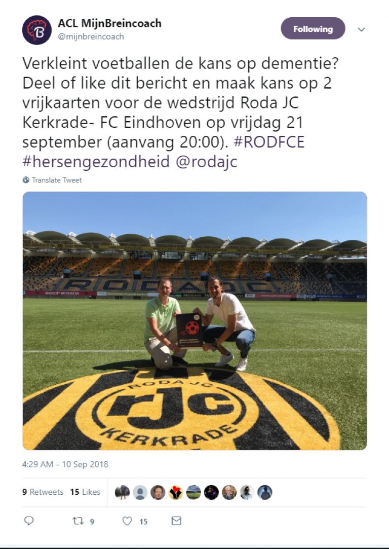 Twitteractie Roda JC